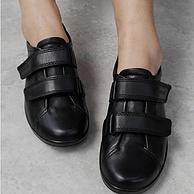 36碼,全粒面頭層牛皮:ECCO 愛步 206513 女士柔酷2號舒適休閑鞋