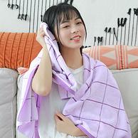 4.9分,100%新疆长绒棉:140x70cm 五季花 纯棉加厚大浴巾 410g