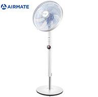 7叶+32档调速+温感ECO风:AIRMATE 艾美特 FS40102R 七叶遥控 落地扇 229元(需用券)