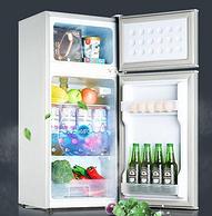 2天1度電:志高 家用雙門節能小冰箱 118升