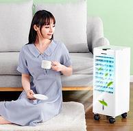 双重制冷+加湿,一天0.5度电:奥克斯 家用小型冷风机空调扇 机械款