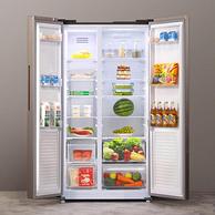 京東代下團,一級能效,超能裝:云米 552L 對開門智能電冰箱 BCD-552WGSAD04A
