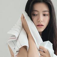 100%新疆长绒棉,3条 洁丽雅 加厚纯棉柔软吸水毛巾