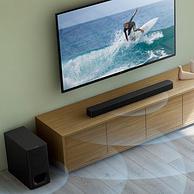 61预售,黑科技前置虚拟环绕:Sony索尼 HT-S350 蓝牙家庭影音系统 回音壁