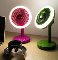 LED照明+高顏值+續航4小時:美菱 臺式小風扇 MPF-DA1660
