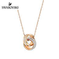 近2倍差價 Swarovski 施華洛世奇 Further 立體編結雙環水晶項鏈