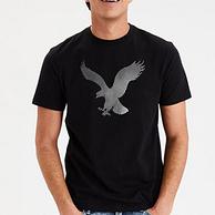 61預告:商場同款,美國 AEO美鷹 男士刺繡logo圓領T恤