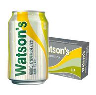 Watsons 屈臣氏 柠檬草味苏打汽水饮料 330mlx24听x3件