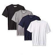 带反光logo,双倍干爽透气:4件 冠军 男士 吸湿排汗运动T恤