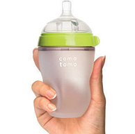 COMOTOMO可么多么 宽口硅胶奶瓶 250mlx2个 绿色