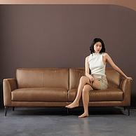 6日0点: 一级头层牛皮可溯源,小米 8H Alta轻奢意式真皮天然乳胶沙发 三人位 3899元包邮