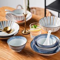 考拉代下单、环保瓷+精湛釉下彩:16件套 纽物 四人食日式陶瓷餐具