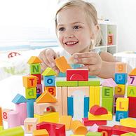 已失效,考拉代下单,叶一茜家小亮仔同款积木,可啃咬:Hape 80粒 儿童 益智字母积木 E8022A