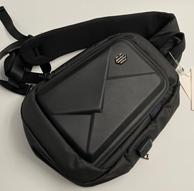 買手評測團、防水硬殼包、USB充電:都市風硬殼單肩胸包/斜挎包