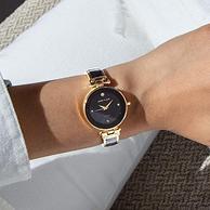 Anne Klein 安妮·克萊因 AK/1980BKGB 女士goldtone鑲鉆手表