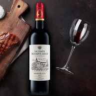 法国原瓶进口,拉蒙 圣亚当伯爵干红葡萄酒 750mlx3件