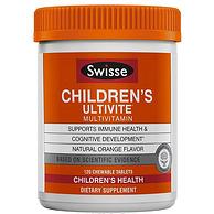 21種維生素,增強孩子食欲:120片 Swisse 兒童 復合維生素咀嚼片 香橙味