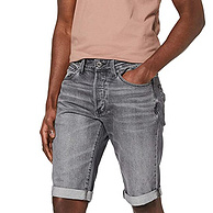 G-Star Raw 3301系列 男士锥形牛仔短裤 D07432-8973-B219