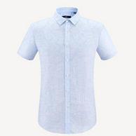 海澜之家 男士 花卉花纹休闲棉麻衬衫