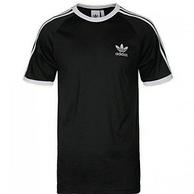 10点:线下同款,adidas三叶草 3-STRIPES TEE 男款短袖运动T恤