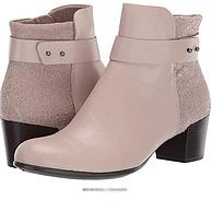 五星好评、反季白菜!ECCO 爱步 Shape M35型塑系列 女士真皮及踝粗跟短靴 273133