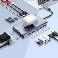 13合1:WJOY ype-c擴展塢(千兆網口、HDMI、VGA、PD、USB3.0)