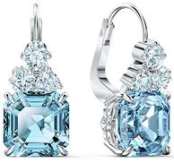 Swarovski 施華洛世奇 Sparkling系列 海藍色穿孔耳環