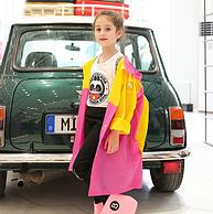可容纳书包:儿童雨衣