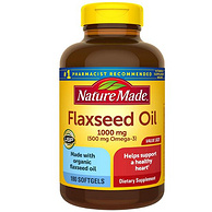 防癌降三高:Nature Made 天维美 有机亚麻籽油 180粒