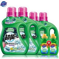 商超同款、1年用量:超能 植翠低泡洗衣液 13斤