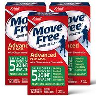 Schiff 旭福 Move Free 维骨力 绿盒维骨力关节炎止痛配方 120粒x3瓶