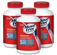 神价格2.77倍差价!120粒x3瓶 Move Free 益节葡萄糖胺和软骨素