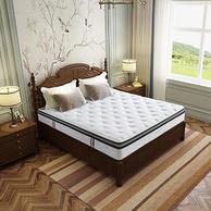 值哭!SLEEMON 喜临门 美姿 乳胶邦尼尔整网弹簧床垫 180x200x23cm