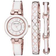 施华洛世奇水晶,ANNE KLEIN安妮·克莱因 女士 手表+手镯套装 AK/3296