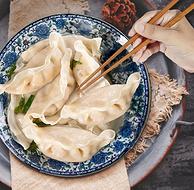 进口鳕鱼肉+少许韭菜:208gx8袋 浩大极鲜 鳕鱼韭菜水饺