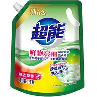 超能 植翠低泡洗衣液 1kgx6袋