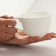浅库存,世界顶级骨瓷:2只 日本NARUMI鸣海 Honiton Lace系列 骨瓷马克杯套装