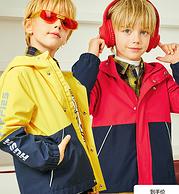 2020秋装新款,暇步士 儿童冲锋衣外套(105~170码)3色