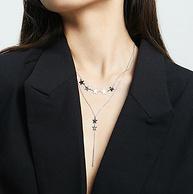 完美塑造天鹅颈,周大生 S925银项链 繁星叠戴锁骨链
