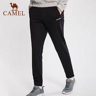 骆驼 情侣款 宽松束脚针织运动长裤