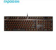 RAPOO 雷柏 V500PRO单光版 机械光键盘 黑色 青轴