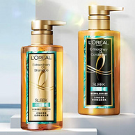 今晚0点,发膜级滋养,72小时留香:巴黎欧莱雅 大金瓶 垂顺洗发水护发素套装