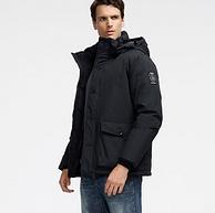 重磅保暖:800蓬+179g90%鹅绒!君羽  男加厚防水防风羽绒服