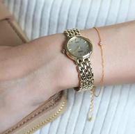 Seiko 精工 女士太阳能石英金色手表