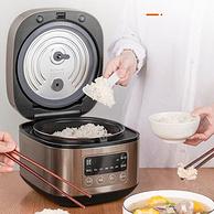 双温感实时调温,一键柴火饭:3L 九阳 智能多功能电饭煲