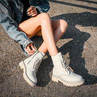 马克华菲 20年秋冬款 女士牛皮马丁靴