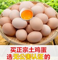 国家地理标志产品,颐升 新鲜鸡蛋固始笨鸡蛋 40枚