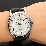 可见光充电:CITIZEN西铁城 男士 光动能皮带手表AW1231-07A