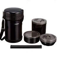 ZOJIRUSHI 象印 黑色不锈钢保温饭盒便当盒 SL-XE20-AD