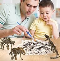 蓝宙 恐龙化石考古挖掘玩具
